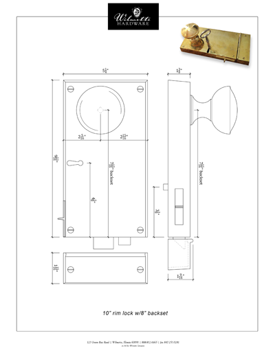 Rim Lock 10L8BS