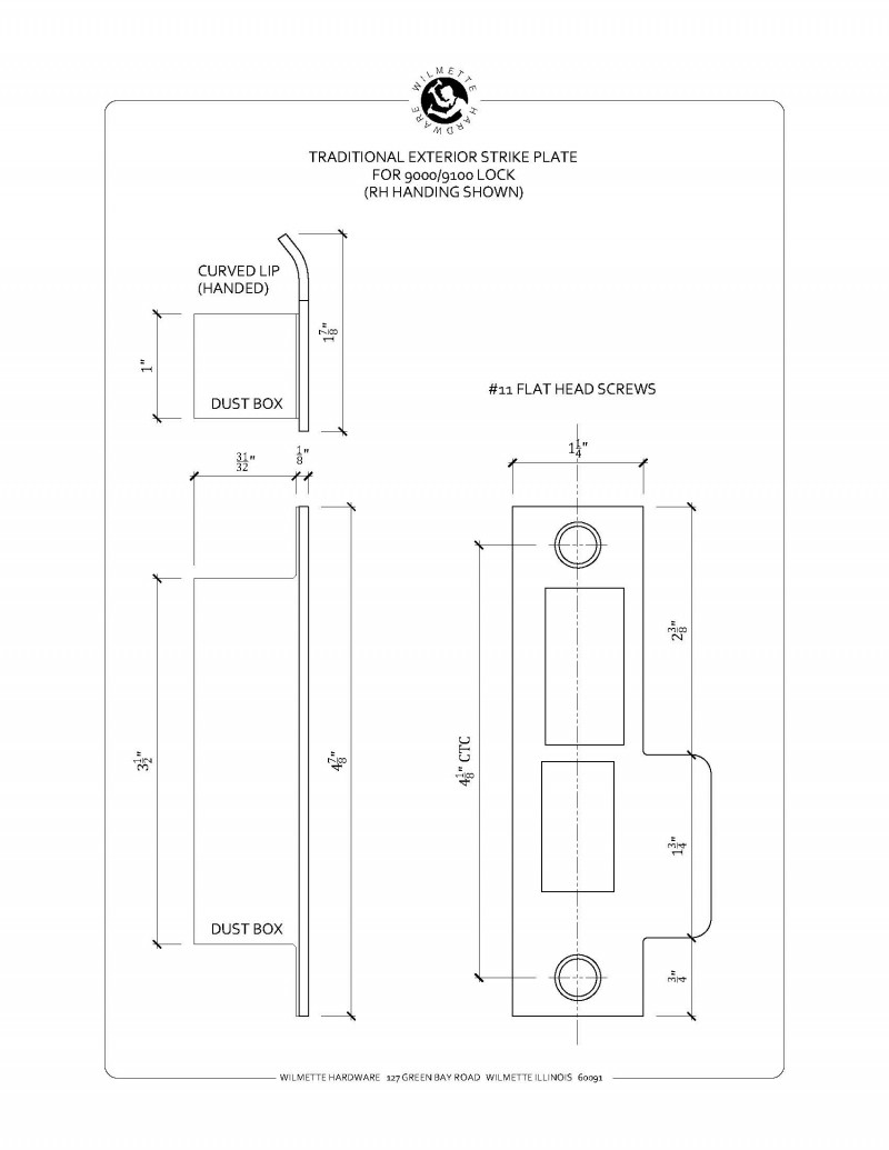 wh-strikeplate-ext9100-trad